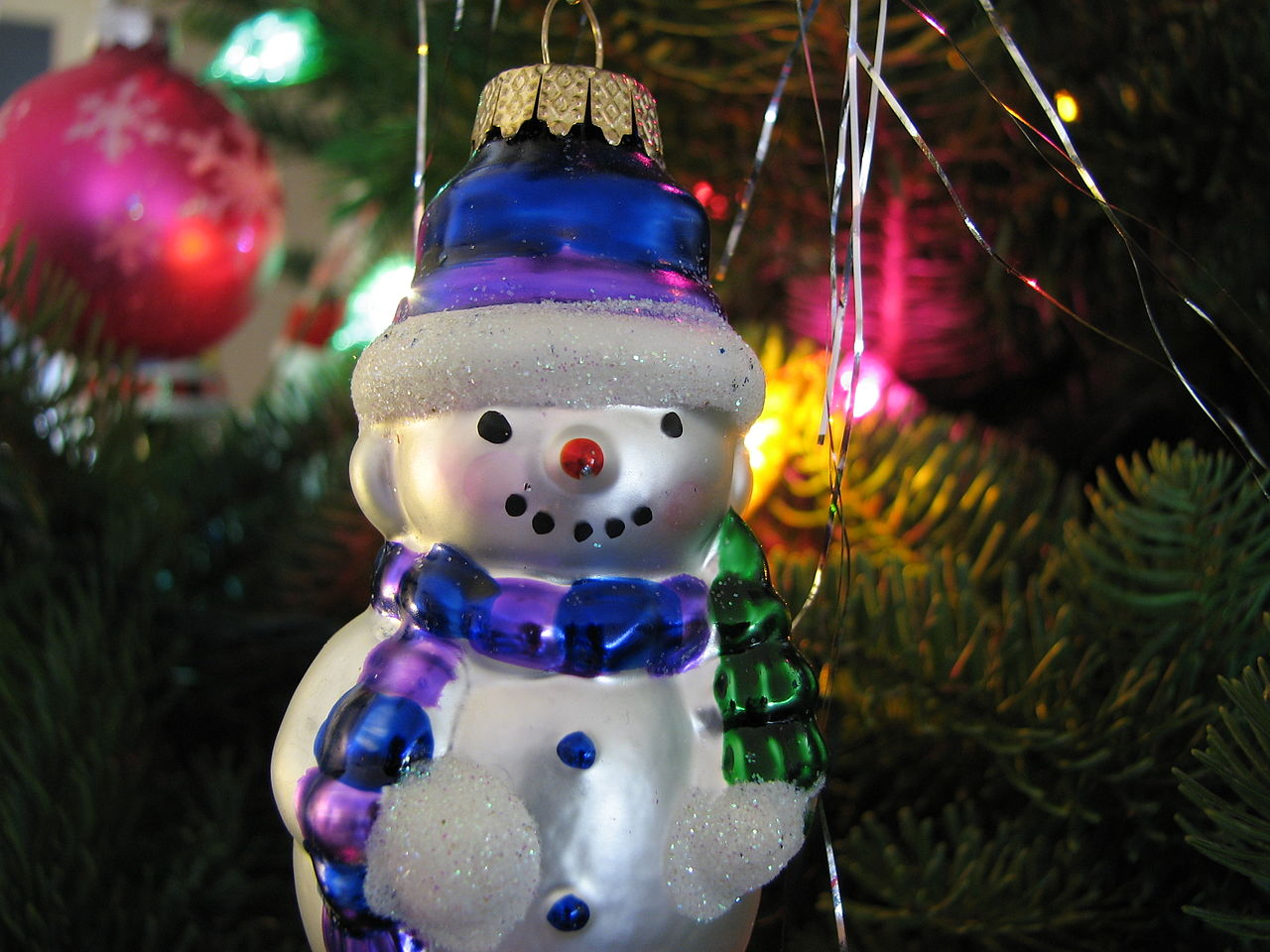 filechristmas ornament snowman lightsjpg