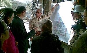 Christos G. Doumas - Christos Doumas interpreting the site of Akrotiri in October 2010 to Luo Linquan