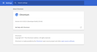 Chromium (web browser) - Image: Chromium 55win 10