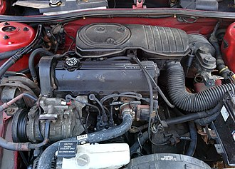 Chrysler 2.2 & 2.5 engine - A 2.2L TBI engine installed in a 1994 Plymouth Sundance