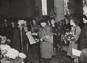 Rudolph Cleveringa - Honorary representative to Winston Churchill in Leiden (1946)