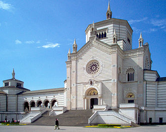 "Carlo Maciachini - The ""Famedio"", core building and entrance to Milan's Monumental Cemetery (1866)"