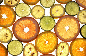 Citrus - Slices of various citrus fruits