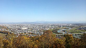 Asahikawa, Hokkaido - View of the city from Mount Arashiyama