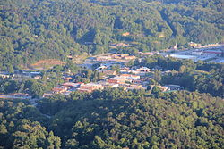 View of Clayton from Black Rock Mountain State Park