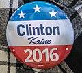 Clinton Kaine 2016 button - Akron Ohio - 2016-10-03 (30066449676).jpg
