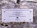 Close-up of Plaque on Seat at Lanteague Woods, Llanteg - geograph.org.uk - 1011285.jpg