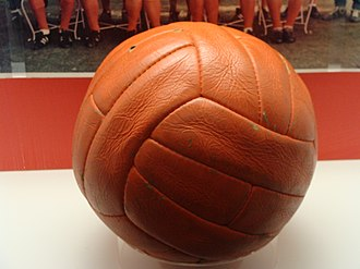 1966 FIFA World Cup Final - Ball used in the final, located in the National Football Museum, Manchester