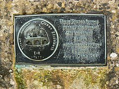 Close-up of the memorial to the flood, Woollard - geograph.org.uk - 482605.jpg