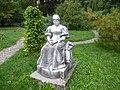 Cluj Gradina Botanica statuia Gyarmathine Hory Etelka.JPG