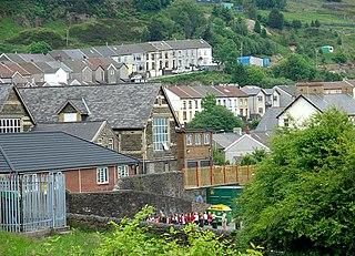 Clydach Vale Village in Rhondda Cynon Taf, Wales