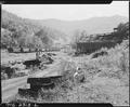 Coal cars below the tipple. Kentucky Straight Creek Coal Company, Belva Mine, abandoned after explosion (in) Dec.... - NARA - 541241.tif
