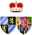 Coat of arms of Princess Henriette Adelaide of Savoy as Electress of Bavaria.png