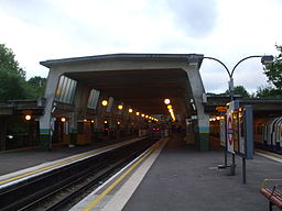 Cockfosters station centre track platforms 2 (left) 3 look eastbound