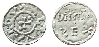 "Æthelwold ætheling - Coin of ""Alwaldus"" (Æthelwold)"