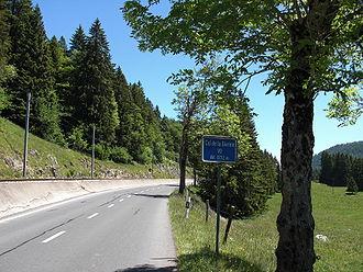 Col de la Givrine Sign
