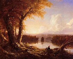 Thomas Cole: Indian at Sunset