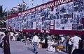 Collectie NMvWereldculturen, TM-20019432, Dia- Bord met foto's over de geschiedenis van de Indonesische republiek. Ter gelegenheid van de 40 jarige onafhankelijkheid, op het Manasterrein in Jogjakarta., Henk van Rinsum, 1985.jpg
