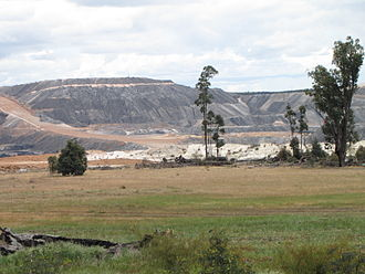 Energy policy of Australia - Coal mine near Collie, Western Australia, 2010