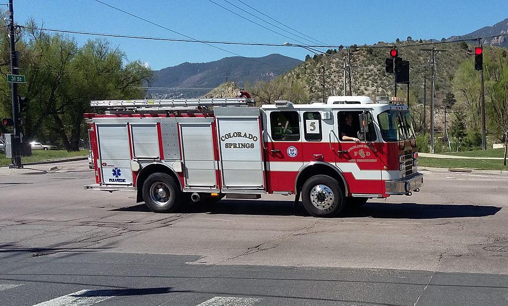 File colorado springs fire engine no 5 colorado ave for Colorado springs motor vehicle registration