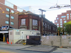 Conductor's Building - The building undergoing renovations in July 2015