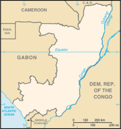 Brazzaville is located in Congo Kiōng-hô-kok