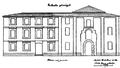 Convento de Agonizantes (1870) plano fachada principal.png