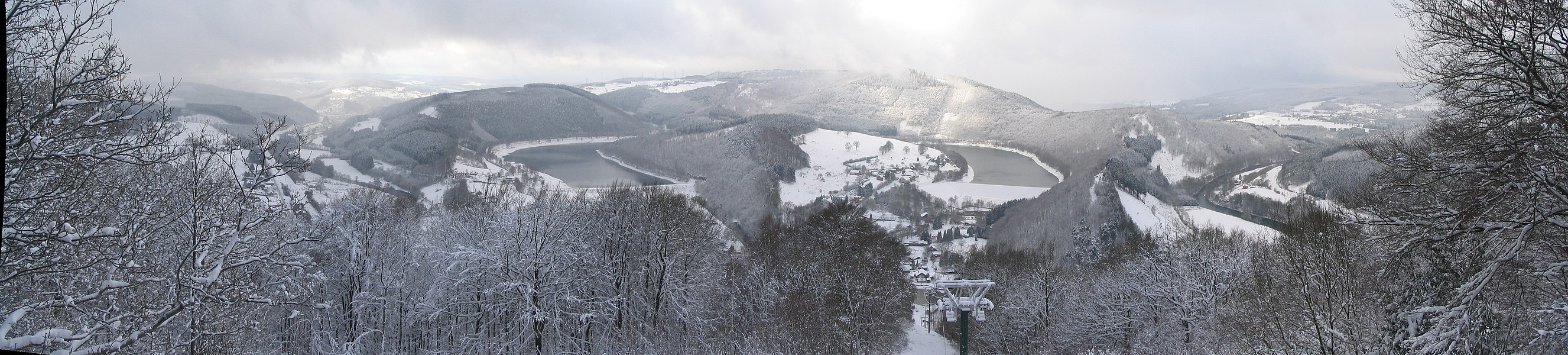 Coo-Trois-Pont (Belgium) lower dam panorama