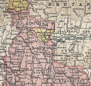 States and union territories of India - Image: Cooch Behar from 1931 Imperial Gazetteer