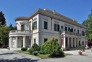 Mon Repos, Corfu villa on the island of Corfu, Greece