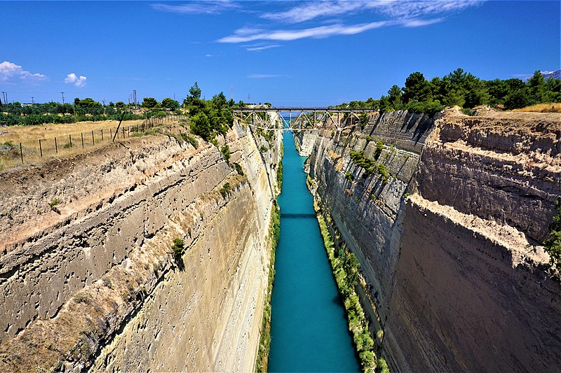Corinth Canal in Peloponnese
