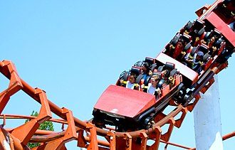 Final Destination 3 - The Corkscrew roller-coaster was used as the Devil's Flight in the film. CGI and a variety of camera angles made it look larger.