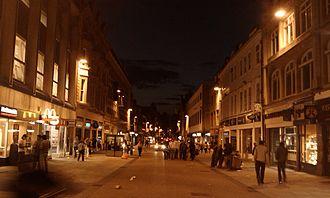 Cornmarket Street - Night view, looking north up Cornmarket