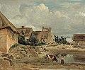 Corot - Environs de Fontainebleau, une cour de ferme, R215, circa 1828-30.jpg