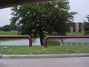 Retention basin - The Corporate Park retention basin in Stafford, Texas
