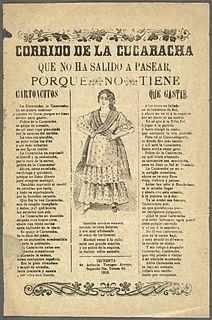 La Cucaracha Spanish traditional folk song