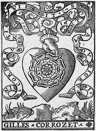 Gilles Corrozet - The printer's device of Gilles Corrozet from a work published in 1541