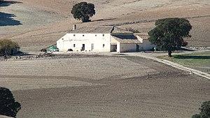 Cortijo - An isolated small cortijo near Píñar, Granada province, Spain.