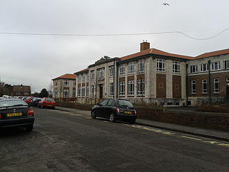 Cotham School - Cotham School's entrance on Cotham Lawn Road