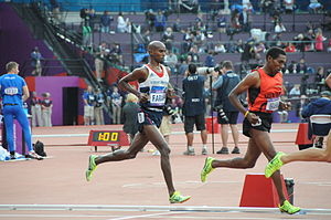 Great Britain at the 2012 Summer Olympics - Double gold medallist Mo Farah competing in the 5000 m.