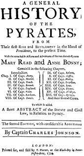 <i>A General History of the Pyrates</i> 1724 book published in Britain