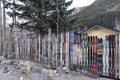 Creative fencing in Idaho Springs Colorado. Fitting, too, given the popularity of skiing in this and other nearby Rocky Mountain towns LCCN2015633053.tif