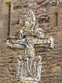 Croix de carrefour sculptée (face avec le Christ en croix).JPG