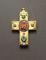 Cross encolpion with glass paste cameo - S.Nikolas (cameo - Venice, 13 c.; cross - Moscow, 17 c.; Kremlin museum) 01 by shakko.JPG