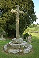 Cross in Coreley churchyard - geograph.org.uk - 466662.jpg