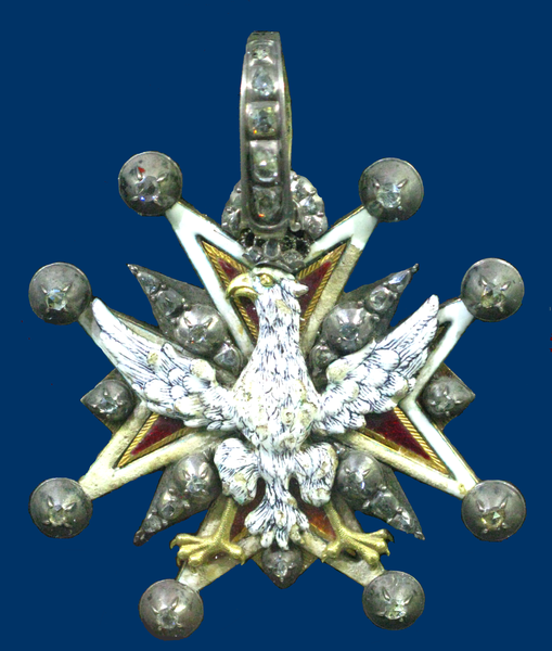 File:Cross of the Order of White Eagle (XVIII century).PNG