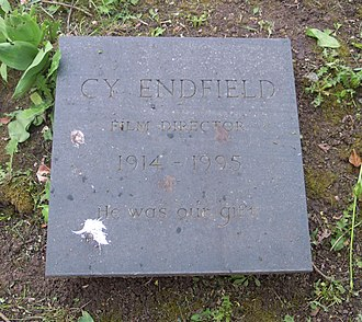 Cy Endfield - Endfield's grave in Highgate Cemetery