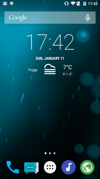 Cyanogenmod 12 Main Screen.png