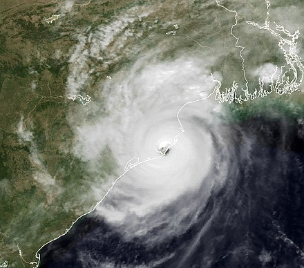 Satellite image of the cyclone as it made landfall in Odisha Cyclone 05B.jpg