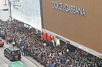 Localism in Hong Kong - Protest in front of the Dolce & Gabbana store over the alleged discriminatory controversy.